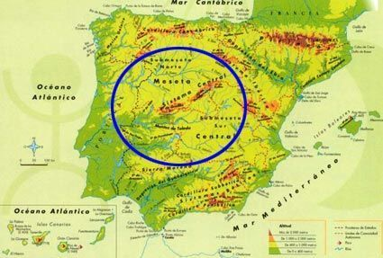 Sierra Morena Mapa Fisico.Geografia 2º Bach Geografia Fisica